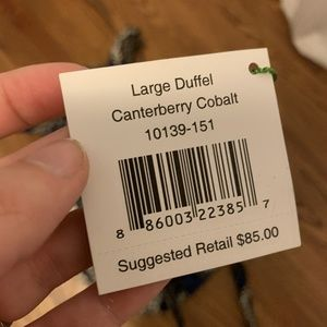 Vera Bradley Bags - Vera Bradley Large Duffel Canterberry Cobalt